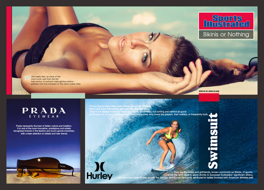 sports illustrated - prada - hurley